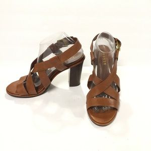 Lauren Ralph Lauren Tan Strappy Sandals Size 8